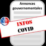 Annonces gouvernementales COVID