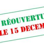 Ouverture à partir du 15 décembre pour les mineurs !